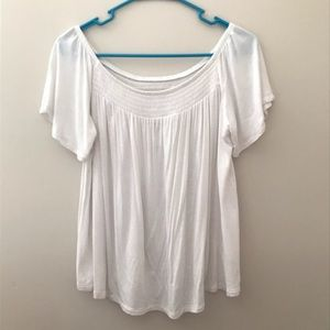 Flowy White off the shoulder top